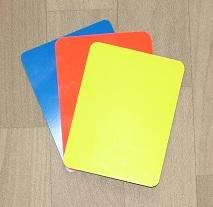 Gelbe, Rote und Blaue Karte